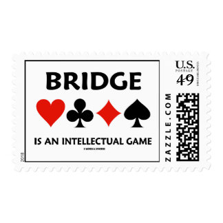 Bridge Is An Intellectual Game (Four Card Suits) Postage