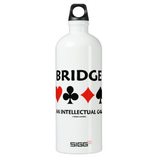 Bridge Is An Intellectual Game (Four Card Suits) SIGG Traveler 1.0L Water Bottle