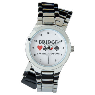 Bridge Is An Intellectual Game (Four Card Suits) Wristwatch