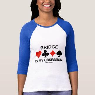 Bridge Is My Obsession (Card Suits Bridge Humor) T-Shirt