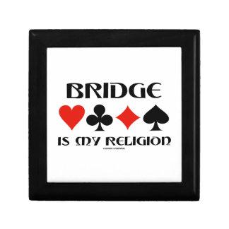 Bridge Is My Religion (Four Card Suits) Keepsake Box