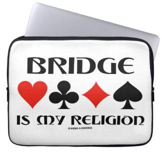 Bridge Is My Religion (Four Card Suits) Laptop Computer Sleeve