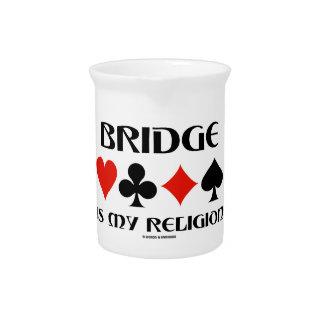 Bridge Is My Religion (Four Card Suits) Pitchers