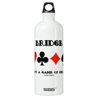 Bridge Is Not A Game Of Chance (Four Card Suits) Aluminum Water Bottle