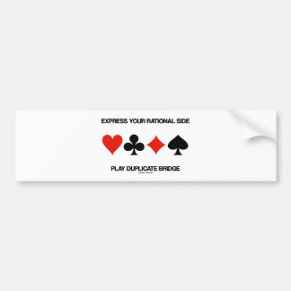 Bridge Is Part Of My Existence (Four Card Suits) Bumper Stickers