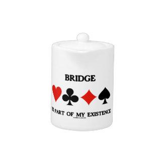 Bridge Is Part Of My Existence (Four Card Suits) Teapot