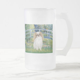Bridge - Japanese Chin (L1) Frosted Glass Beer Mug