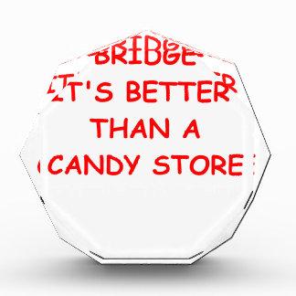 bridge joke acrylic award