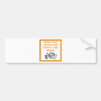 bridge joke bumper stickers