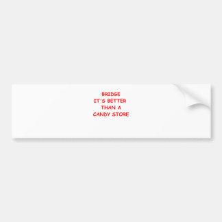 bridge joke bumper sticker