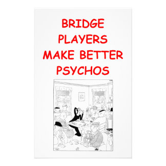 bridge joke customized stationery