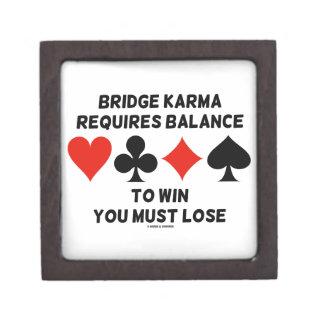Bridge Karma Requires Balance To Win You Must Lose Gift Box