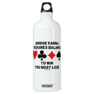 Bridge Karma Requires Balance To Win You Must Lose SIGG Traveler 1.0L Water Bottle