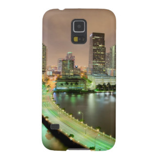 Bridge leads across waterway to downtown Miami Case For Galaxy S5