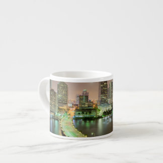 Bridge leads across waterway to downtown Miami Espresso Cup