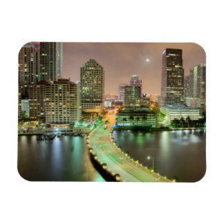 Bridge leads across waterway to downtown Miami Magnets