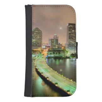 Bridge leads across waterway to downtown Miami Samsung S4 Wallet Case