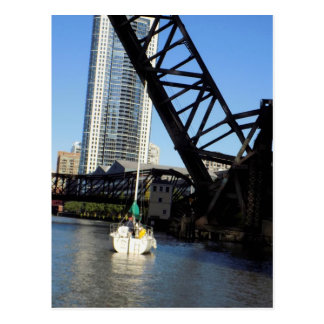 Bridge Lifts - Chicago Postcard
