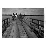 Bridge, Marco Island, Florida, 1935 Greeting Card