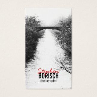 Bridge Minimalistic BW Photo Business Card