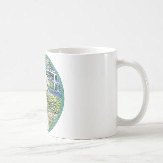 Bridge (Monet) - White Arabian Horse Coffee Mug