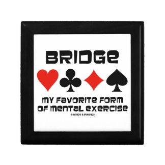 Bridge My Favorite Form Of Mental Exercise Keepsake Box