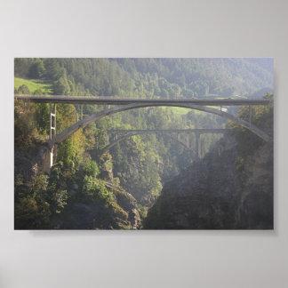 Bridge Near Brigg Switzerland Poster