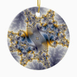 Bridge Network - Mandelbrot Fractal Art Ceramic Ornament