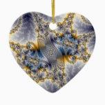 Bridge Network - Mandelbrot Fractal Art Ceramic Ornament
