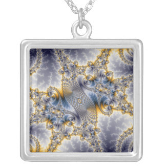 Bridge Network - Mandelbrot Fractal Art Necklace