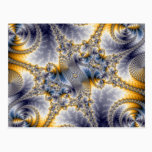 Bridge Network - Mandelbrot Fractal Art Postcard