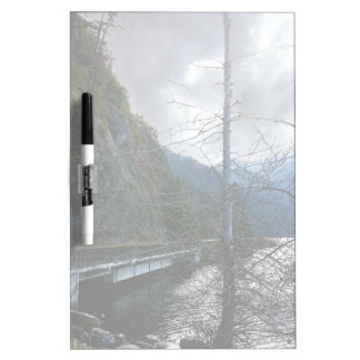 Bridge next to Lake Crescent Frosted Dry-Erase Board