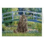 Bridge - Norwegian Forest cat Cards