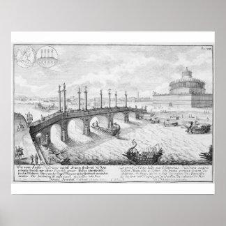 Bridge of Aelius and Hadrian's Mausoleum (Castel S Poster