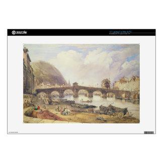 """Bridge of Arches, Liege 15"""" Laptop Decal"""