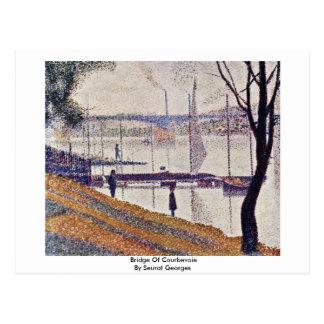 Bridge Of Courbevoie By Seurat Georges Postcard