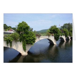 Bridge of Flowers Card