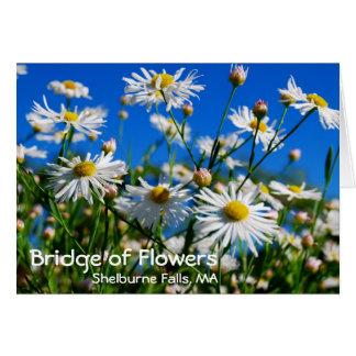 Bridge of Flowers notecard Greeting Card