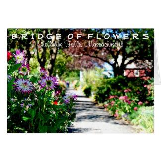 Bridge of Flowers notecard Greeting Cards