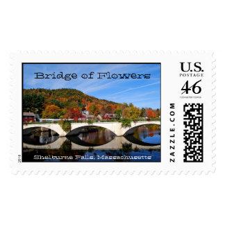 Bridge of Flowers, Shelburne Falls, Massachusetts Postage Stamp