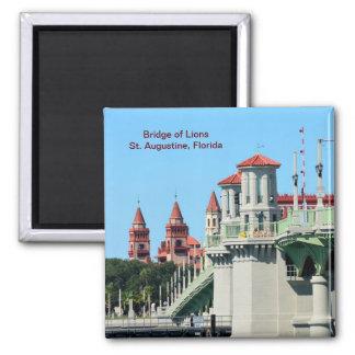 Bridge of Lions 2 Inch Square Magnet