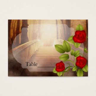 Bridge of Love, Nature Wedding - Red Roses Business Card