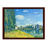 Bridge Of Moret In Summer By Sisley Alfred Post Cards
