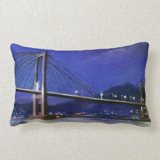 Bridge of Rande (Redondela-Moaña. Pontevedra) Lumbar Pillow