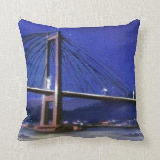 Bridge of Rande (Redondela-Moaña. Pontevedra) Throw Pillow