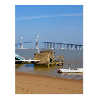 Bridge of Saint Nazaire in France Postcard