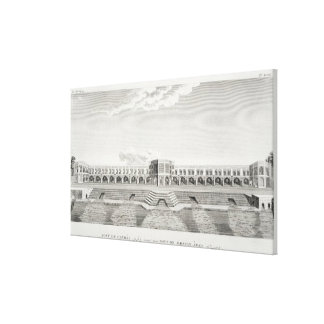 Bridge of Shiraz, Isfahan, from 'Voyages du Chevel Stretched Canvas Print