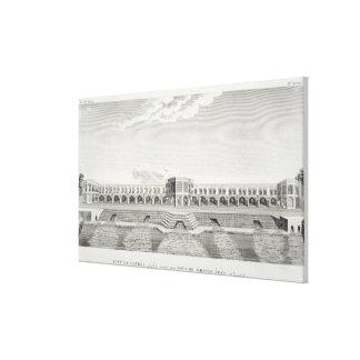 Bridge of Shiraz, Isfahan, from 'Voyages du Chevel Canvas Print