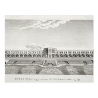 Bridge of Shiraz, Isfahan, from 'Voyages du Chevel Postcard