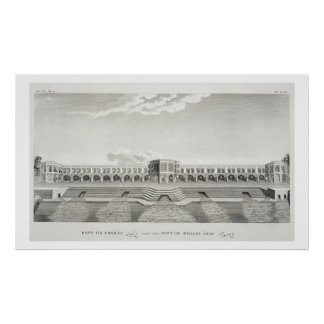 Bridge of Shiraz, Isfahan, from 'Voyages du Chevel Poster